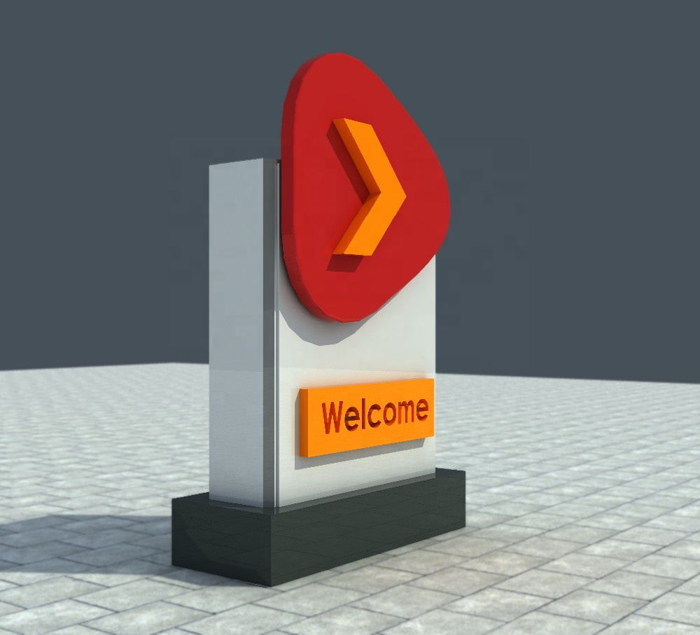 Petrol Station Acrylic Material Exit Entrance Sign