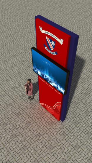 shopping mall  led screen signage